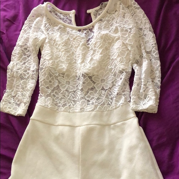 Charlotte Russe Other - White lace romper